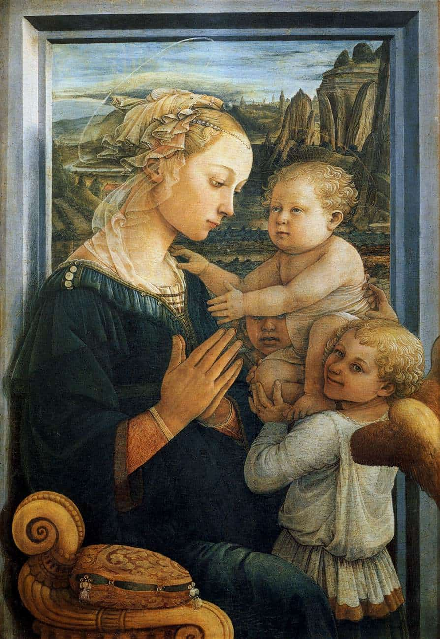 Filippo Lippi Madonna with Child and Angels