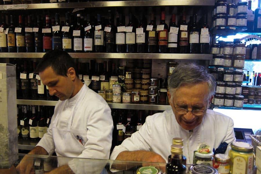 The Volpetti staff on the Testaccio Rome food tour