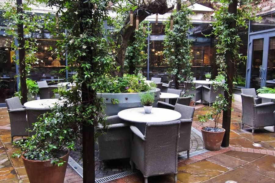 Hoxton courtyard