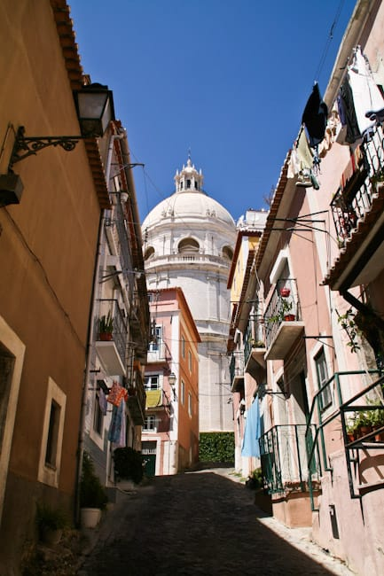 Hill leading to our house in Alfama