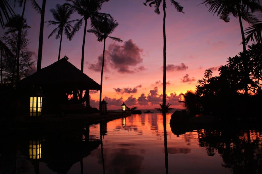 Sunset at our beach house, Koh Lanta