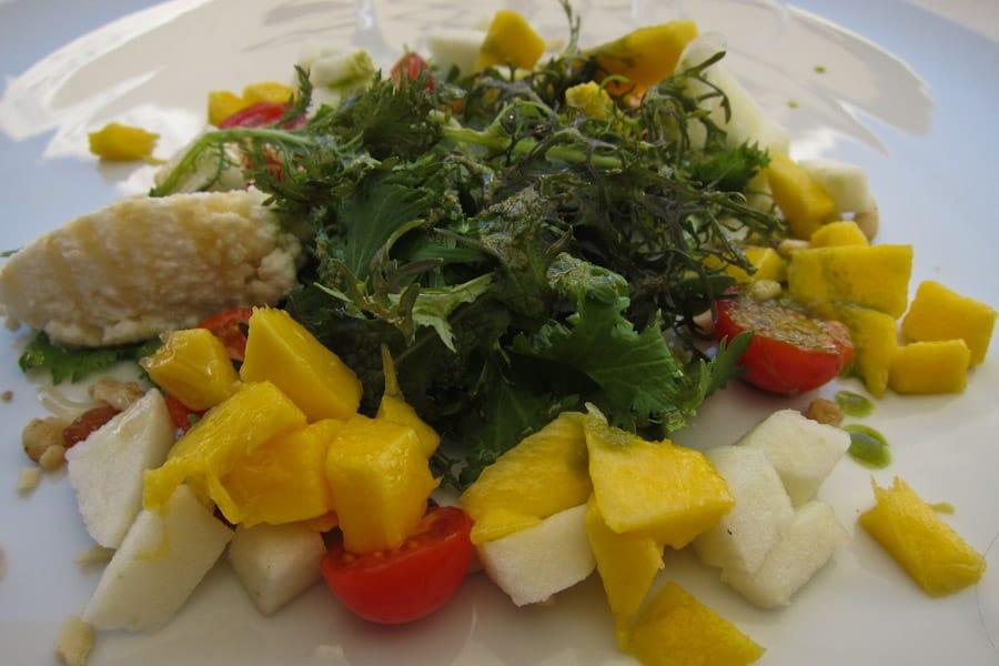 Mango and fresh cheese salad at DOC restaurant, Douro Valley 18