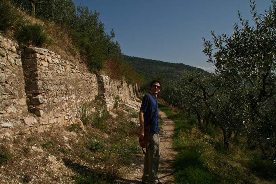 Roman Aqueduct path, Spello