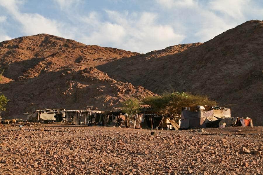 Bedouin camp at Feynan