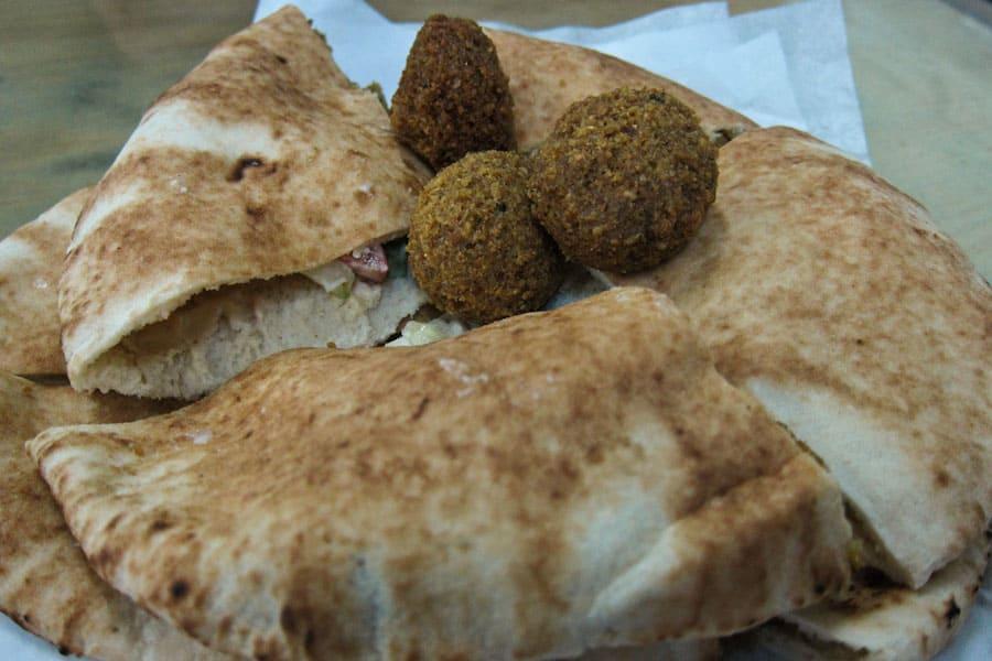 Falafel sandwich, Jordan