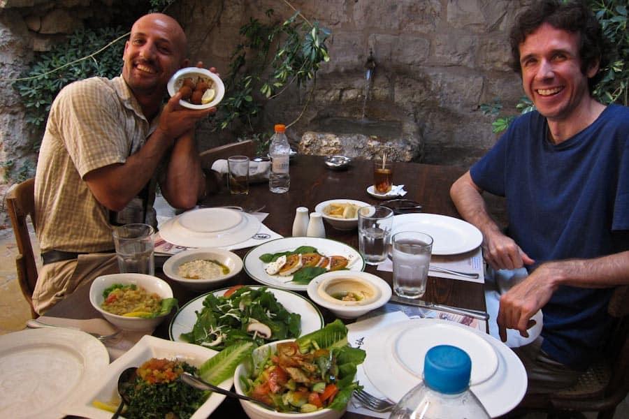 Jordanian mezze at Haret Jdoudna restaurant, Madaba, Jordan