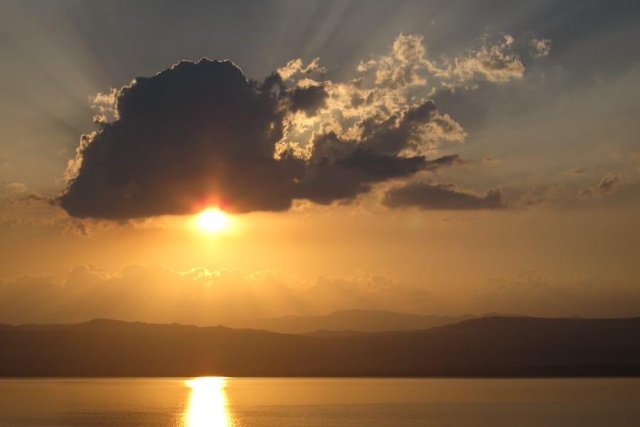 Sunset at the Dead Sea, Jordan