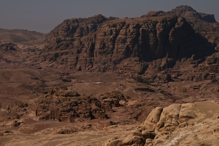 Our first glimpse of Petra, Jordan