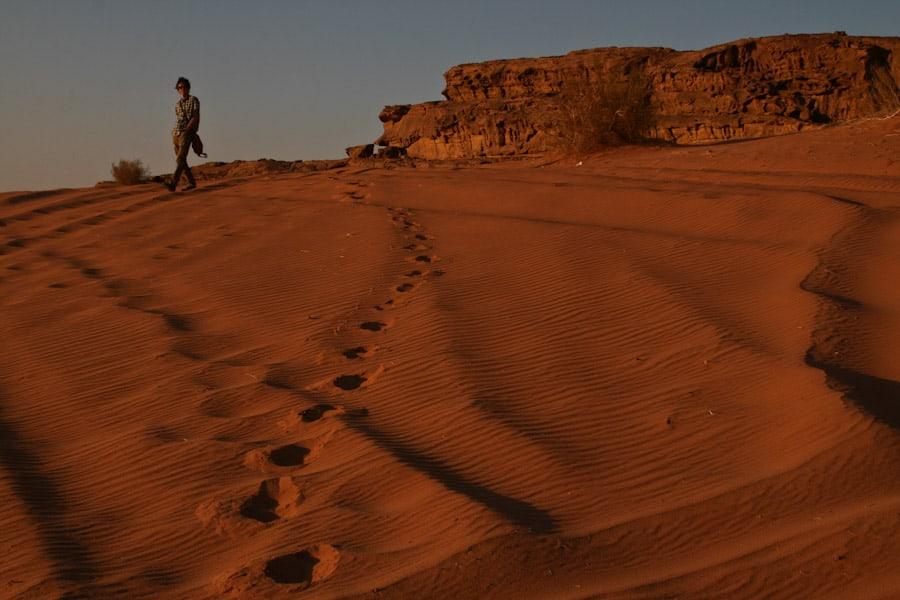 Simon at Wadi Rum sand dunes