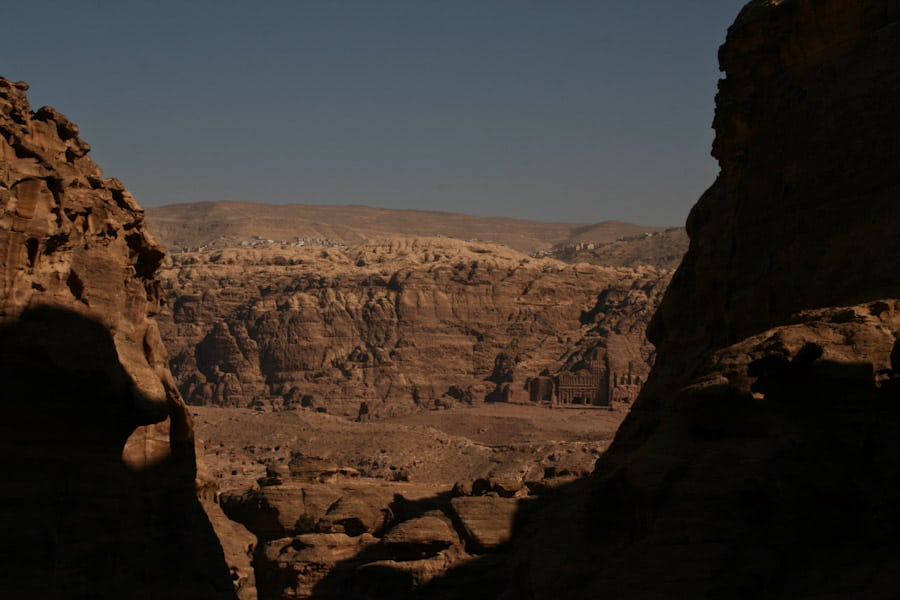 View on the walk up to the Monastery