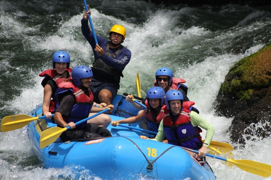 Us whitewater rafting in Costa Rica
