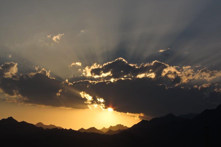 Sunset in Dahab, Egypt