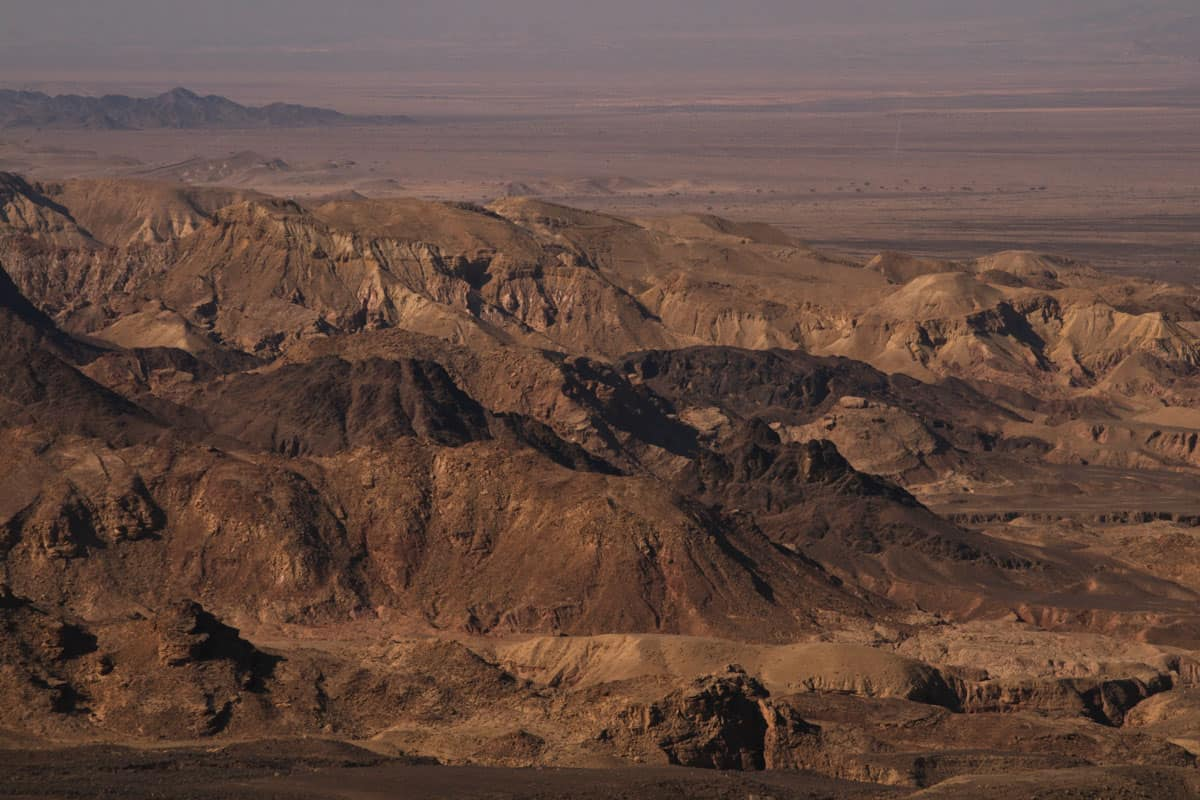 The drive from Feynan Eco Lodge to Petra