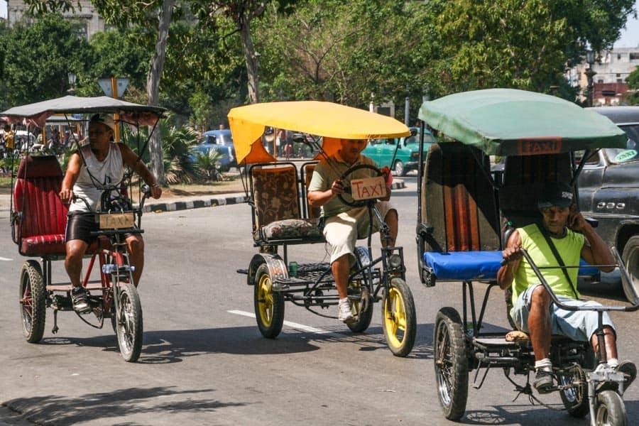 Cycle rickshaws, Havana, Cuba
