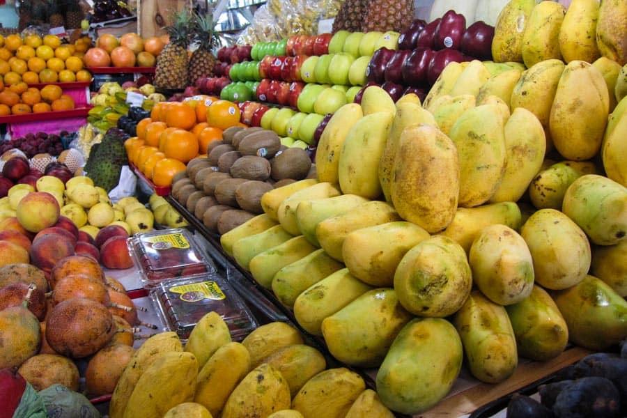 Fruit stall at Mercado San Juan