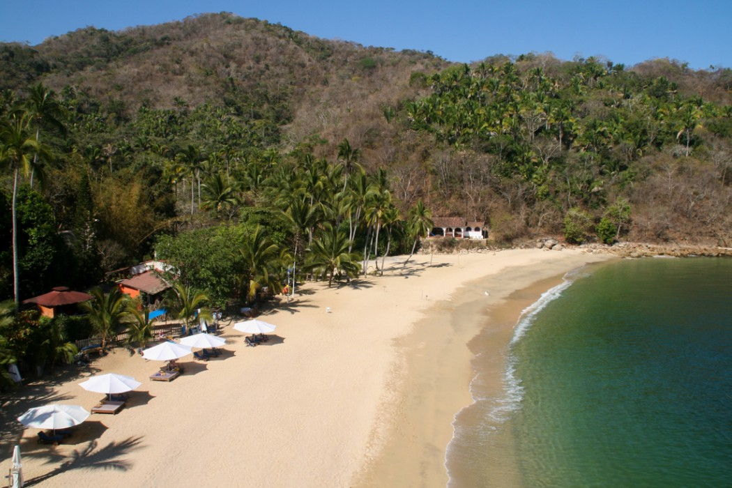 Majahuitas resort, view from Cliff House