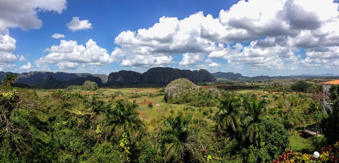 Vinales, Cuba panorama from Hotel Los Jazmines