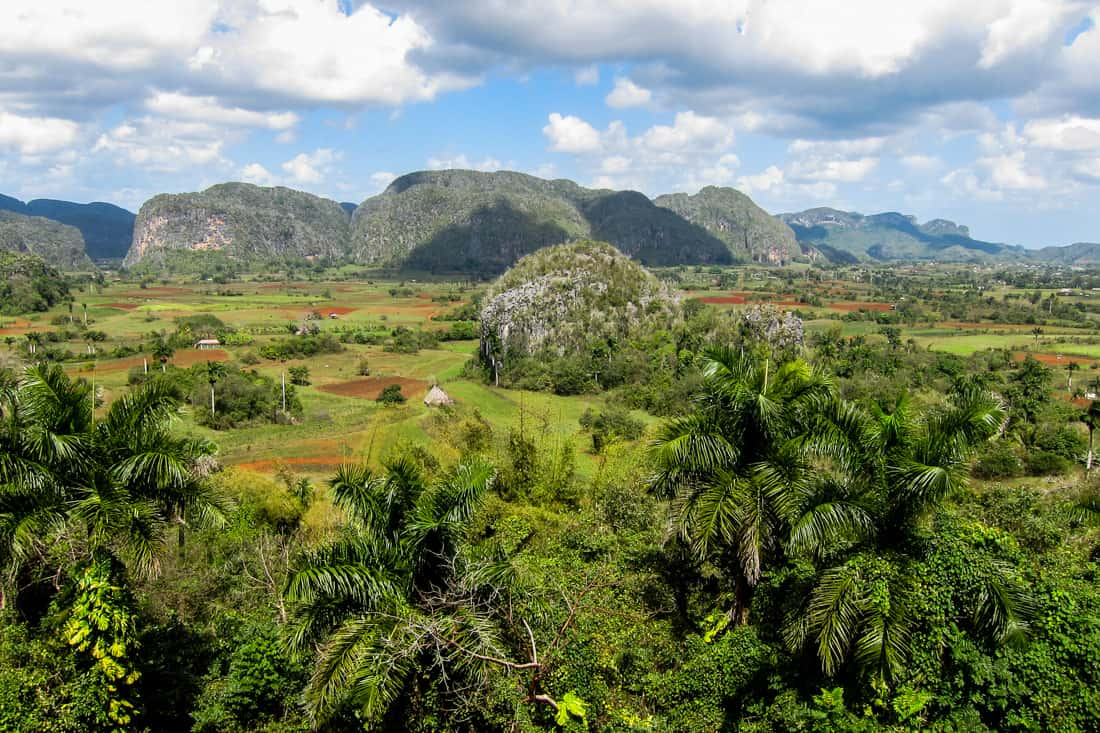 Vinales, Cuba: view from Hotel Los Jazmines