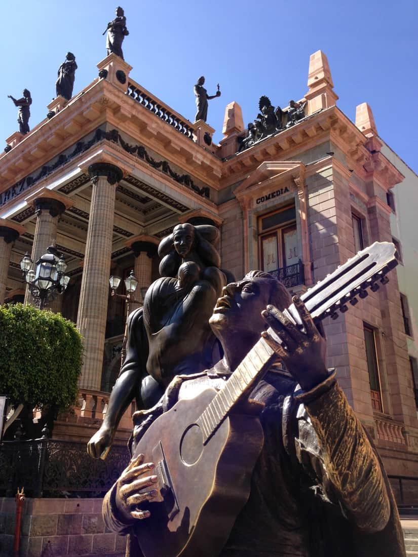 Statues outside Teatro Juarez, Guanajuato