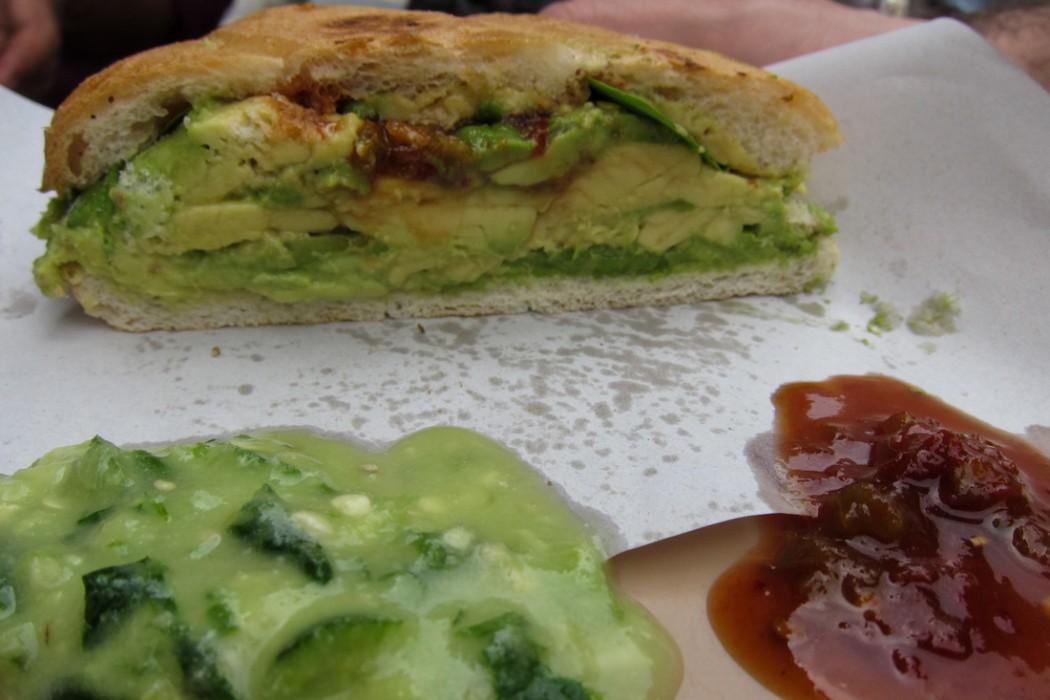 Avocado and Chipotle torta