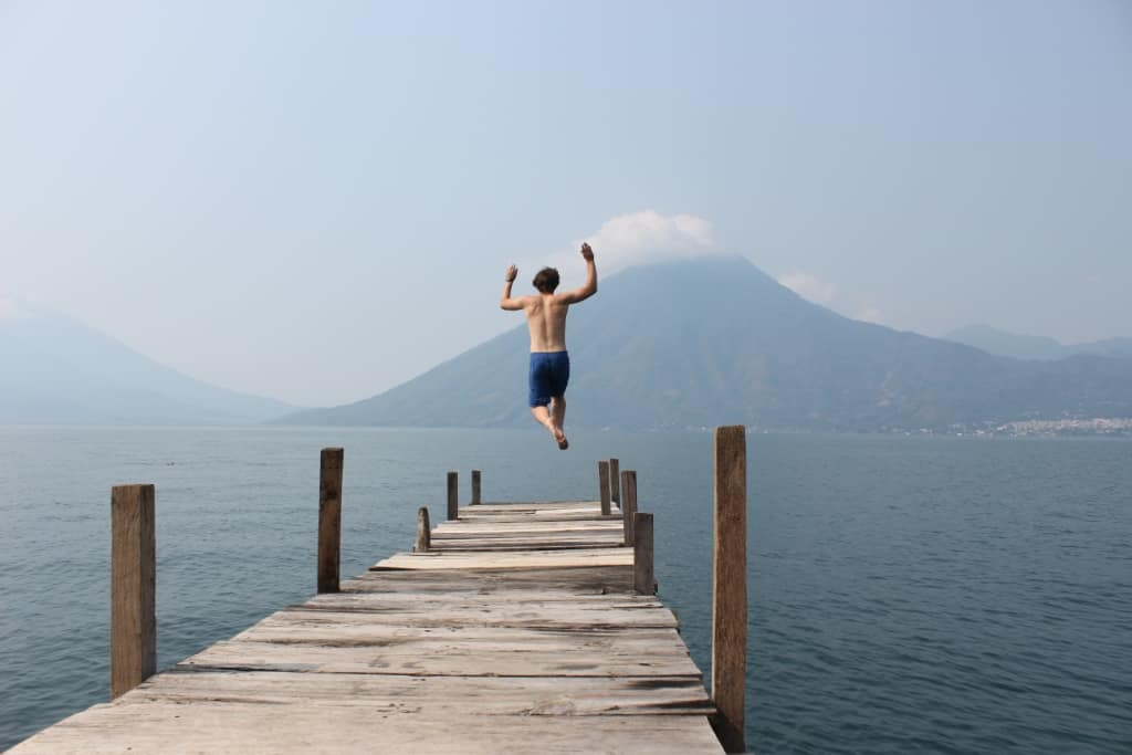 Ian at Lago de Atitlan Guatemala