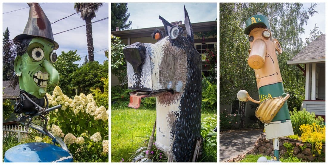 Patrick Amiot junk sculptures, Florence Avenue, Sebastopol