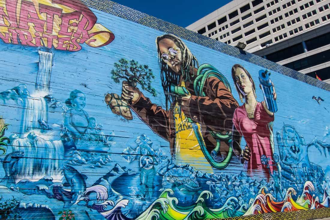 Water Writes Mural, Oakland, CA