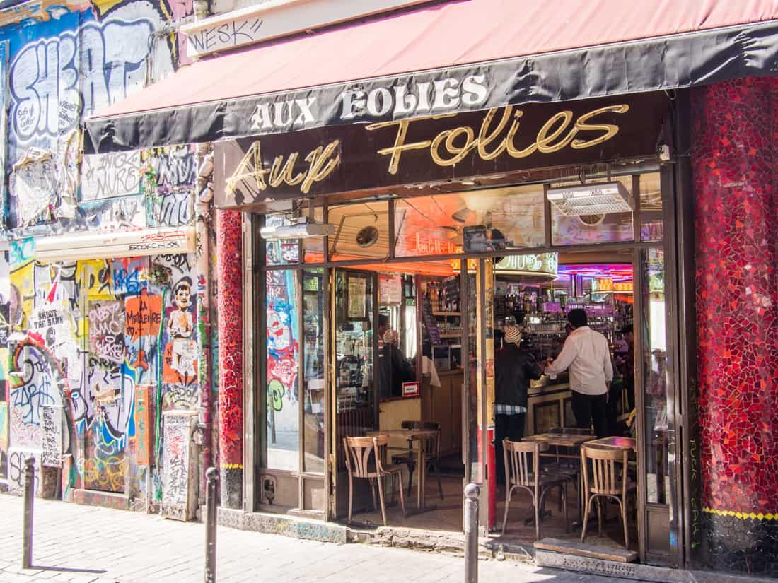 Café aux Folies, the iconic Belleville cafe