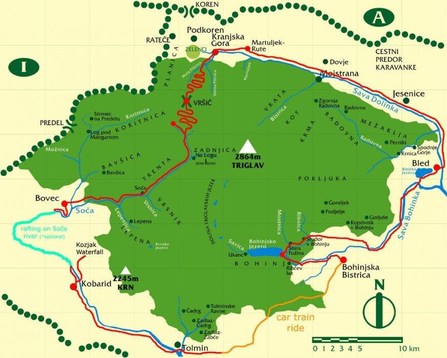 The Emerald River Adventure route