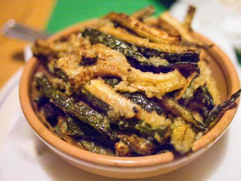 Zucchini scapece at Masseria Sant'Angelo