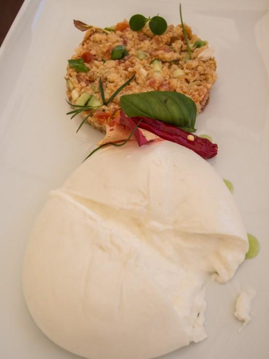 Burrata with frisella salentina salad