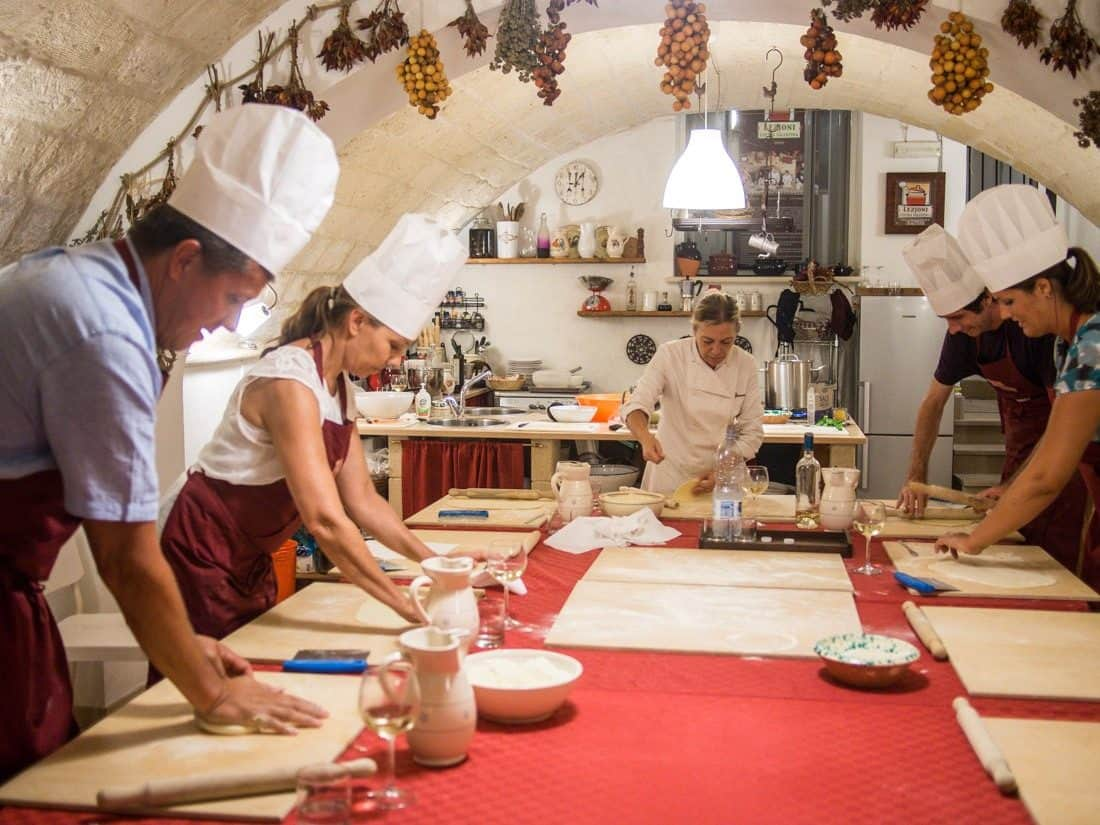 Learning to make pasta in Lecce, Puglia with Cooking Experience Lecce