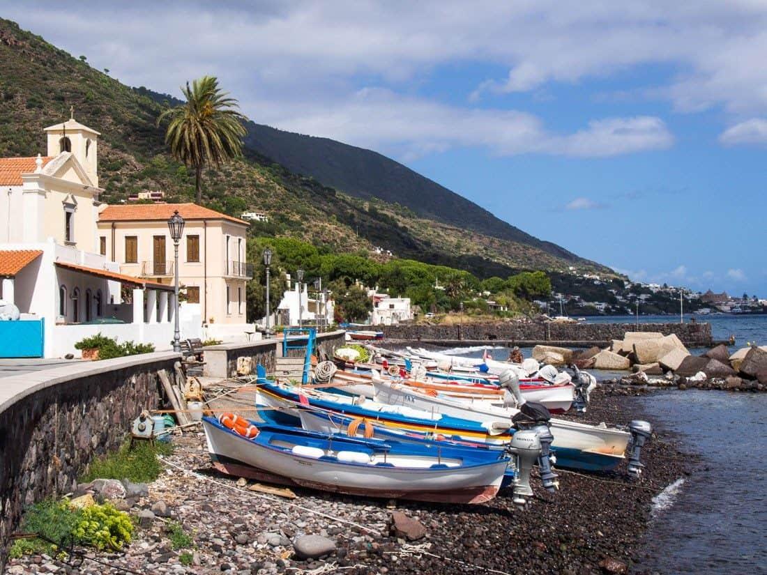 Lingua beach on Salina island, Sicily