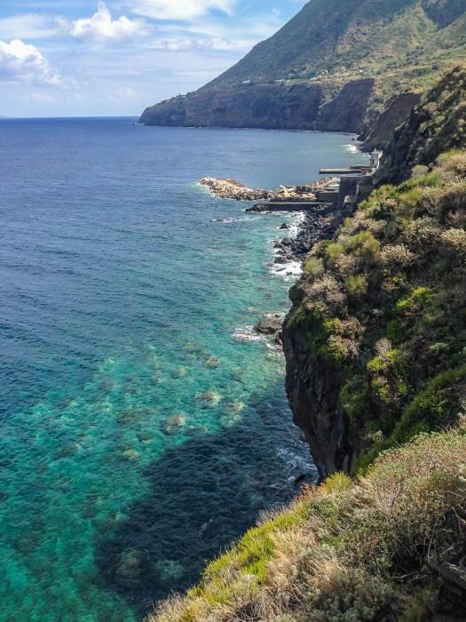 Malfa's coastline, Salina