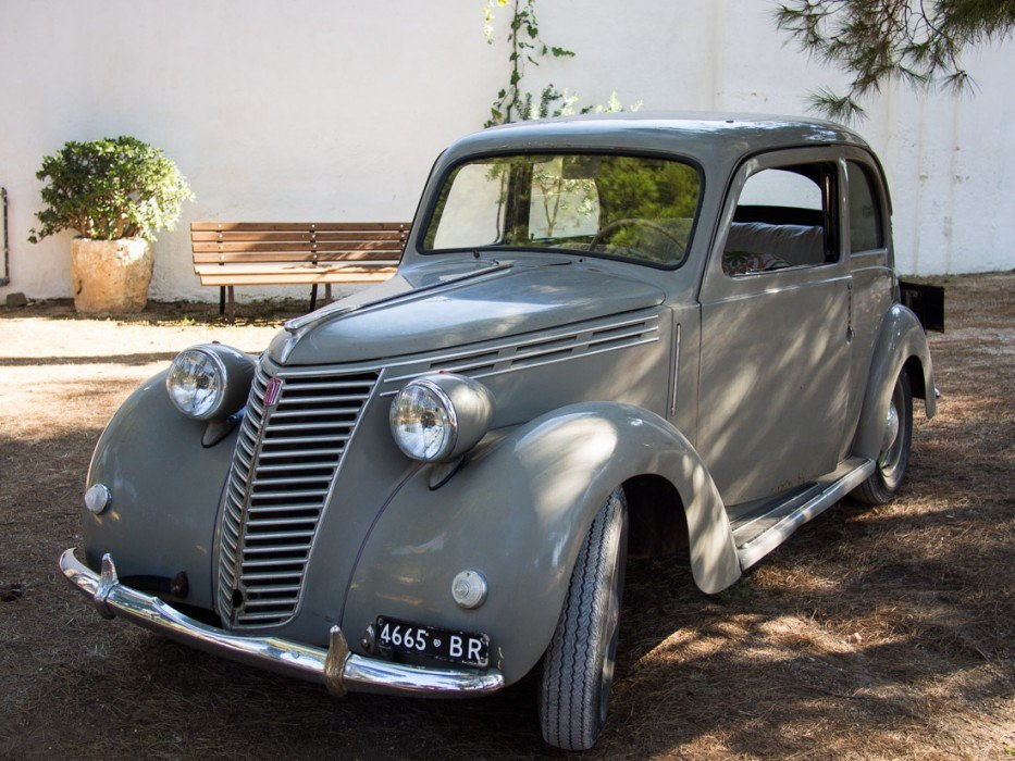 The 1949 Fiat we toured the olive groves in at Masseria Il Frantoio