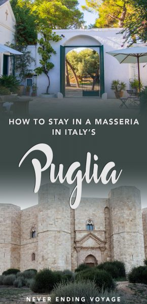 Here's what to expect while staying at a masseria (or Italian farmhouse) in Puglia.
