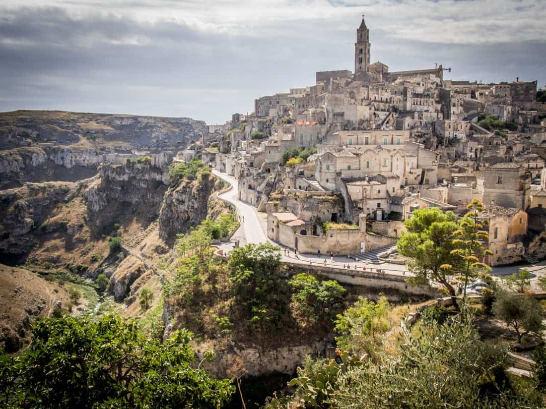Matera on the edge of the ravine