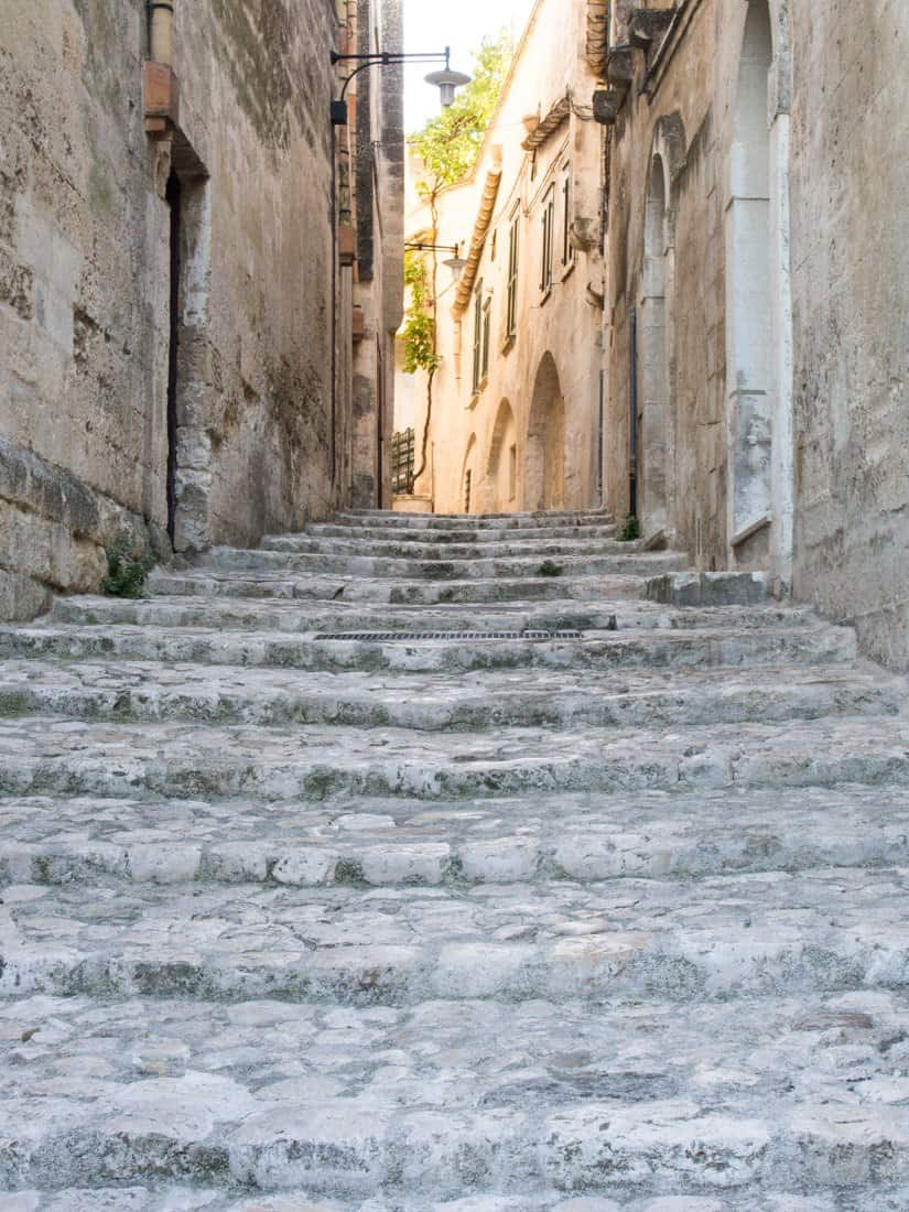 Streets of Matera's sassi