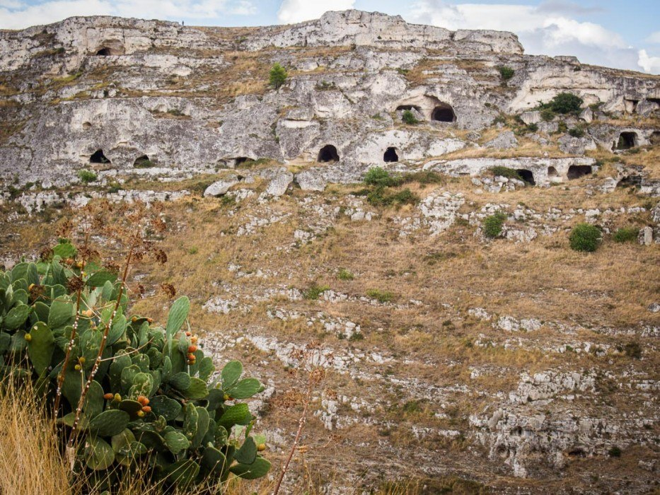 Neolithic caves in Matera