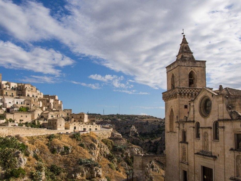 The view from La Corte dei Pastori in Matera, Italy