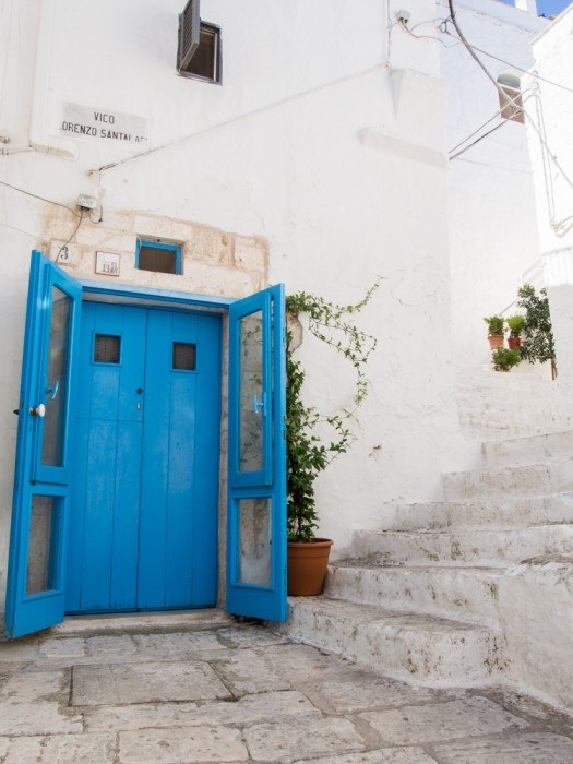 Blue door Ostuni, Puglia