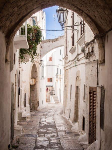 Ostuni archway in Puglia, Italy