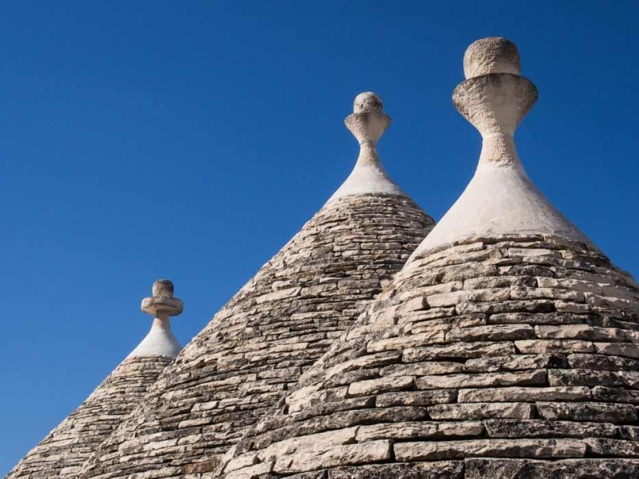 Alberobello trulli roof, Puglia