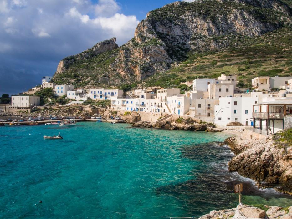 Cala Dogana village on Levanzo island, Sicily