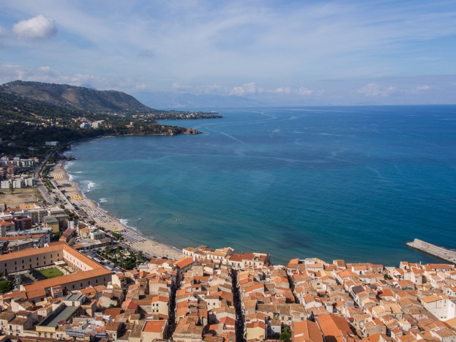 View of Cefalu from La Rocca