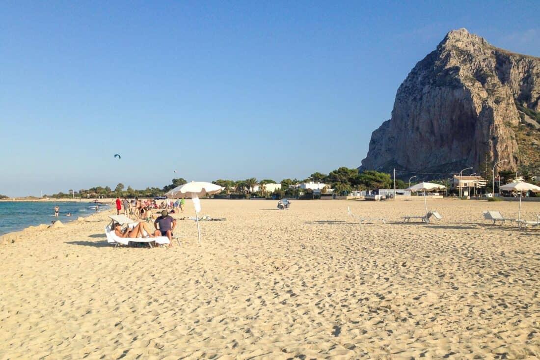 San Vito Lo Capo beach in west Sicily