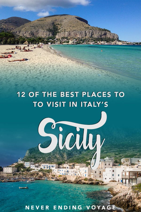 From Palermo to the Aeolian islands, here are the 12 best places to travel to in Sicily, Italy. #sicily #italy #sicilytravel #italytravel #europe #europetravel