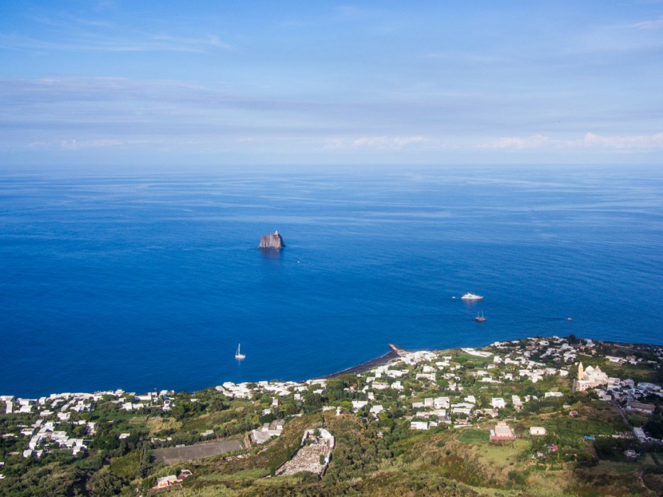 The view on the way up Stromboli