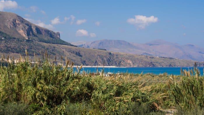 View from our villa in Alcamo Marina