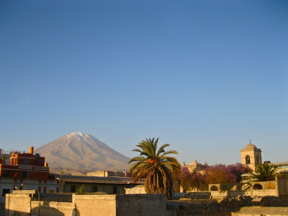 View of Volcano Misti from Arequipa